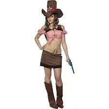 WILD WEST COWGIRL FANCY DRESS OUTFIT SIZE 16/18 GREAT FOR A PARTY OR HEN DO