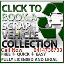 CASH FOR UNWANTED SCRAP CAR VAN UTE 4x4 CALL 0 FOR TOPS $$$ Fairfield Fairfield Area Preview