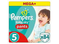 PAMPERS MEGA PACK ACTIVE FIT 5 - 84 NAPPIES