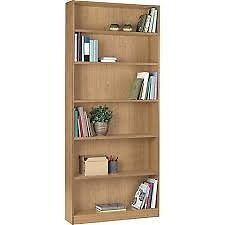 Maine Tall and Wide Extra Deep Bookcase -beech