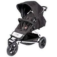 Mountain Buggy Plus+One Double Stroller in Black