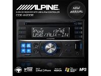 Alpine Double Din Stereo Head Unit. NEED GONE ASAP!