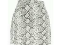 River island snake skin skirt worn once 14