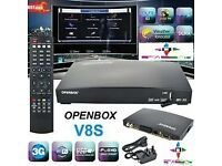 ✮SAT DISH AND INTERNET REQUIRED✮✰600 MHZ✰OPeNBOx V8S HD 1080p SAT ReCeiVeR✰2016 -12 MTHS CHANNELS