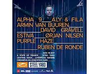 1 Armin Van Buuren Ticket - Steelyard Liverpool Saturday 18th