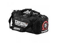Large Tatami Meiyo Gear Gym Bag Black BJJ MMA Muay Thai