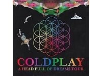 COLDPLAY TICKETS CARDIFF 11 JULY 2017 2 seated tickets, I have the tickets so can give them to you