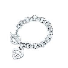 'Tiffany Inspired' Toggle Heart Bracelet