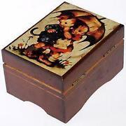 Antique Wooden Music Box