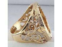 Half Sovereign ring mount vintage