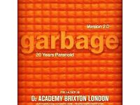 2 x Garbage Tickets (14 Sep, London)