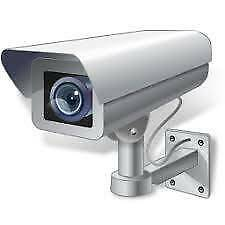 CCTV Video Camera System with 4 x Cameras and cabling