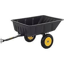 Trailer for ride on mower lawnmower