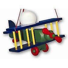 Wooden child's airplane light
