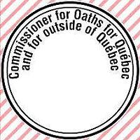 Commissaire à l'assermentation/ Commissioner of Oaths