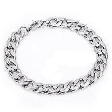 Mens White Gold Bracelet