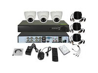 cctv camera system supplied and fitted 4 channel dvr with 500 gb and 3 HD cameras full system