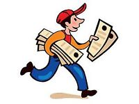 Door to door leaflet distributors are required in areas around Kent . £30per - 1000 Leaflets