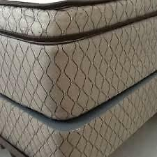 LUXURY QUEEN SIZE PILLOW TOP MAT/BOX  NO TAX FREE DELIVERY 10 YR Kitchener / Waterloo Kitchener Area image 4