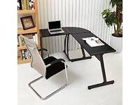 Corner Desk Coavas L-Shaped Office Wood Desk Large Corner PC Gaming Table Computer Workstation