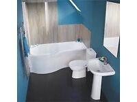Full Bathroom Showerbath Complete Suite.