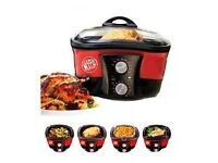 JML GoChef 8 in 1 cooker with all trays baskets ect and recipe book