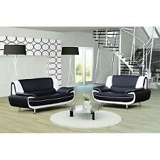 CHEAPEST GUARANTEED: 70% OFF: CAROL 3 +2 SEATER SOFA AVAILABLE IN RED AND BLACK OR WHITE & BLACK