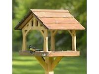 garden bird table hand made