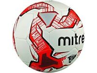 Mitre Impel Training Quality Football - Red size 5 with FREE BALL PUMP