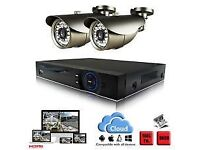 2* HD cameras CCTV System with installation