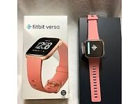 Fitbit Versa Rose Gold Edition Smart Watch Brand New In Box