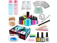 Professional UV Nail Gel Polish Varnish Starter Kit Set with 36w Lamp Light CCO. USED ONCE