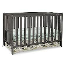 Storkcraft 04510-23G Rosland 3-in-1 Convertible Crib - Gray (New Other) (Open Box)