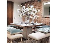 Oka **BARGAIN* New Designer Dining Table rrp £2,355 - 1 mnth old **Poss Del**