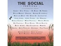 2x The Social Festival Saturday Tickets £80 for pair