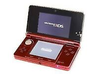 Nintendo Handheld Console 3DS - Metallic Red with extras / cash or swaps