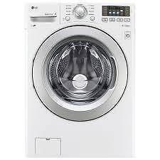 Laveuse électrique LG 27 po, 5.3 pi. cu., Chargement frontal, Couleur Blanche, (SKU : 1440),  Modèle: WM3270CW