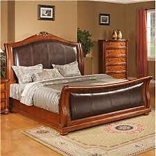 King size bed set solid wood in excellent conditions Gatineau Ottawa / Gatineau Area image 3