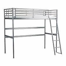 Ikea Svarta double loft bed (metal frame)