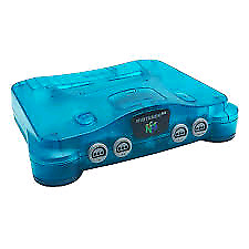 Ice Blue N64 (Console and cords only)