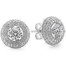Cubic Zirconia Earrings Princess Cut