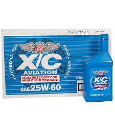 25W60 PHILLIPS 66 AIRCRAFT OIL 12 QUARTS -CARTON