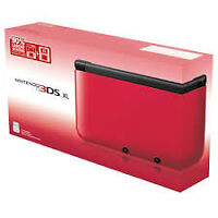3ds xl black and red