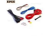 edge amplifier wiring kit 10 gauge for 2 speakers or active sub
