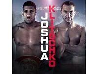 klitschko vs Joshua Boxing