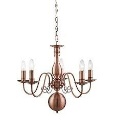 Copper 5 Arm Pendant Light Pagazzi