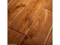 SOLID OAK NATURAL WOOD TONGUE AND GROOVED FLOORING. TWO PACKS BRAND NEW AND SEALED.