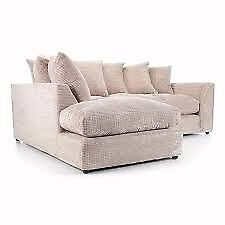 **SELLING QUICK** BRAND NEW LARA JUMBO CORD CORNER OR 3+2 SOFA ON SPECIAL OFFER