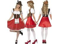 OCTOBER FEST BEER WENCH FANCY DRESS OUTFIT SIZE 16/18 GREAT FOR PARTY OR HEN DO