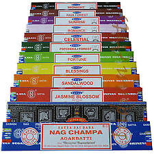 10 x Different Packets of Nag Champa Incense Sticks.